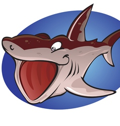 Cartoon Basking Shark vector image