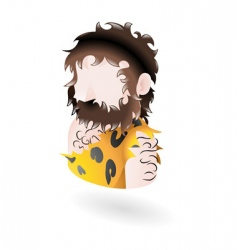 caveman icon vector image