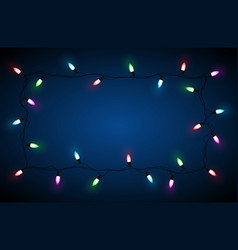 christmas lights border happy vector image