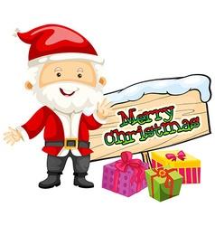 Christmas theme with santa and presents vector
