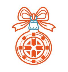 christmas winter holiday celebration and symbolic vector image