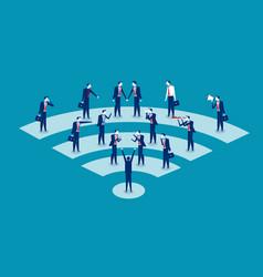 communication business people communication vector image