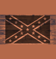 Confederate flag brand vector
