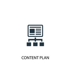 Content plan icon simple element vector