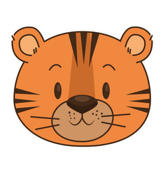Cute and adorable tiger character vector
