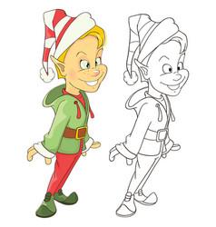 cute elf cartoon character vector image