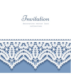 Decorative frame with lace border vector