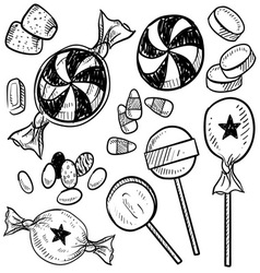 Doodle candy vector