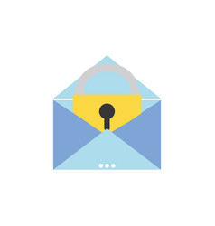 e-mail mesage with padlock insite to security vector image