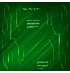 electronics page background green light bright vector image