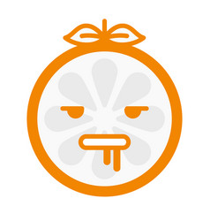 Emoji - crazy orange isolated vector