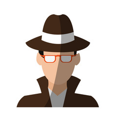 Faceless man avatar icon image vector