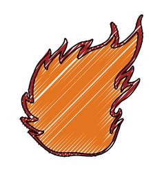fire burn silhouette vector image