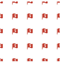 flag with dollar icon pattern seamless white vector image