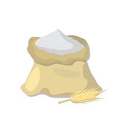 Flour sack and wheat ear vector