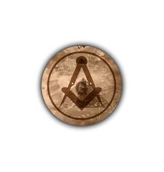 Freemasonry emblem - old masonic square icon vector