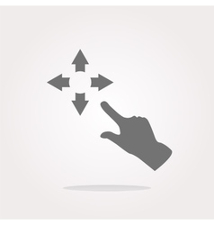 Fullscreen sign icon and people hand Arrows vector image