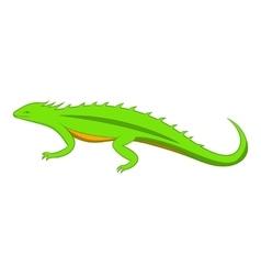 Green lizard icon cartoon style vector image
