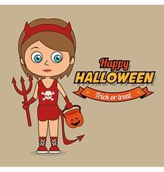 Halloween design vector image