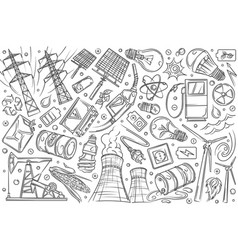 hand drawn modern technologies and innovations vector image
