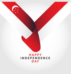Happy singapore independence day template design vector
