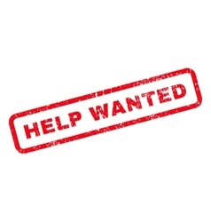 Help Wanted Text Rubber Stamp vector
