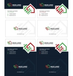 Housetop business card 2 vector