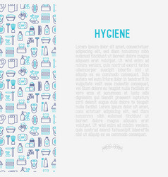 Hygiene concept with thin line icons vector