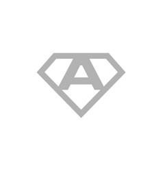 initial letter a diamond logo template vector image