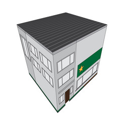 isolated isometric police station building icon vector image