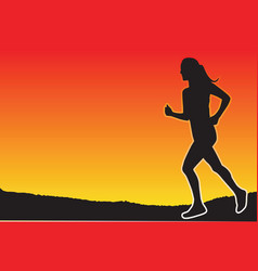 jogging in the evening vector image vector image
