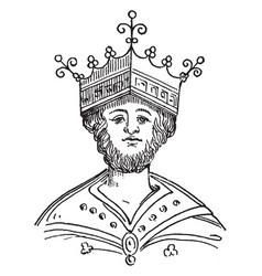 King edgar vintage vector
