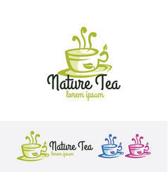 nature tea logo vector image