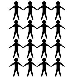 Paper cutout men vector