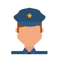 Police officer cartoon vector