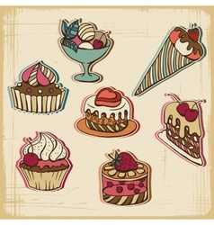Retro Cakes Background vector