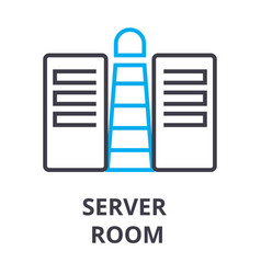 server room thin line icon sign symbol vector image