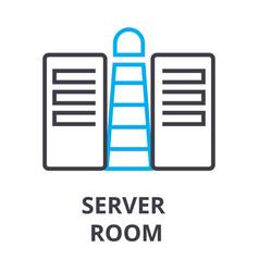 server room thin line icon sign symbol vector image