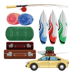 Set of travel vector