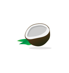 simple half coconut vector image