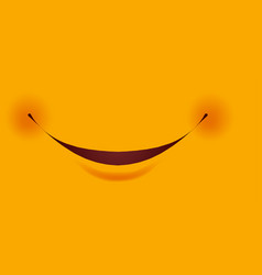 Smile with small red cheeks as part smiley vector