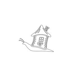Snail with house flat icon vector