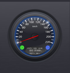 speedometer black speed gauge classic car vector image