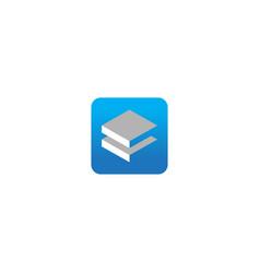 square data business company logo vector image