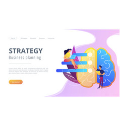 Strategy and business planning landing page vector