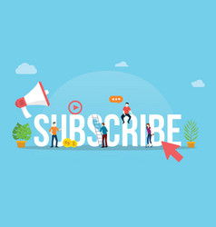 subscribe channel social media video concept with vector image