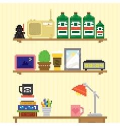 Teenager room workplace vector