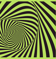 tunnel optical 3d abstract background vector image