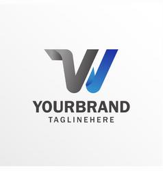 W letter logo with design alphabet logo design vector
