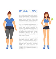 Weight loss people change vector